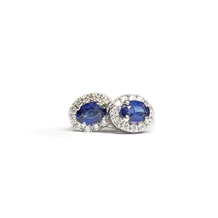 Orecchini ovali con zaffiri e diamanti Casa Torelli