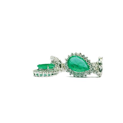 Orecchini a goccia con smeraldi e diamanti Casa Torelli