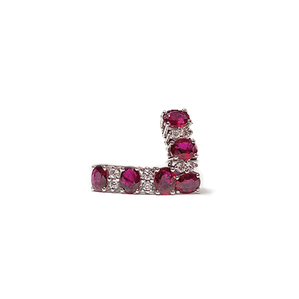 Orecchini con sei rubini e diamanti Casa Torelli