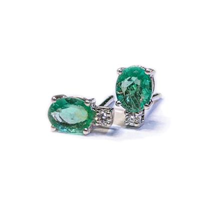 Orecchini con smeraldi e diamanti Casa Torelli