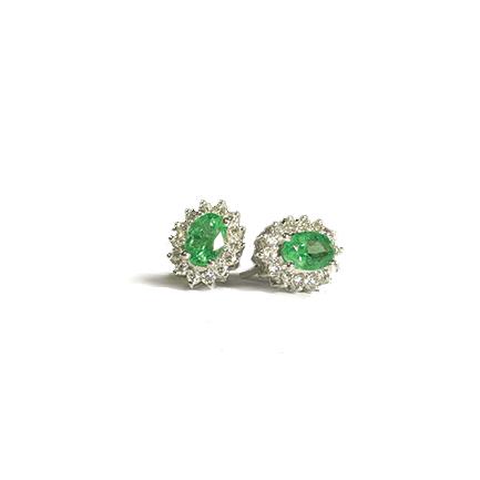 Orecchini a stella con smeraldi e diamanti Casa Torelli