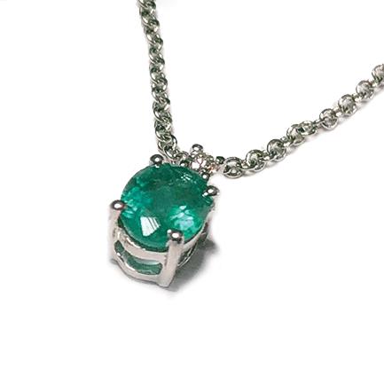 Pendente ovale con smeraldo Casa Torelli