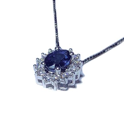 Pendente a forma di stella con zaffiri e diamanti Casa Torelli